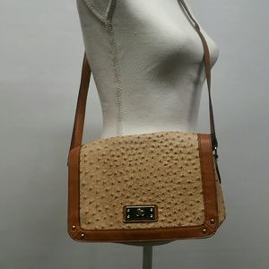 Merona Bags - Faux Ostrich Leather Purse Shoulder Crossbody a933a0c10a7f3